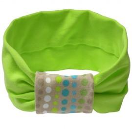 Diadema Verde Lima y Mosaico Beige - Baby Babas