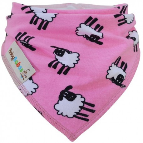 Pink Sheep - bandana dribble bib by Baby Babas