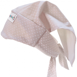 Beige Dots Headscarf - Baby Babas