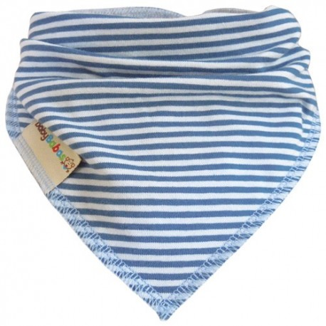 Blue Stripes - Bandana Dribble Bib - Baby Babas
