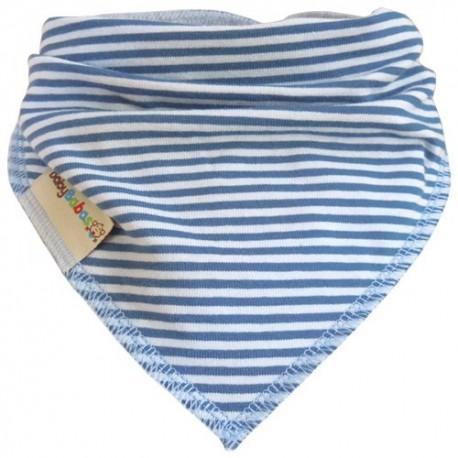 Blue Stripes Summer Dribble Bib - Baby Babas