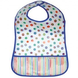 Blue Dots Bib with Pocket - Feeding Bib - Baby Babas