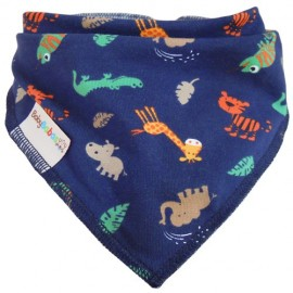 Jungle Animals Summer Dribble Bib - Baby Babas