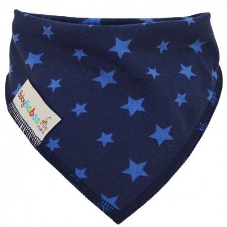 Navy Blue Stars Summer Dribble Bib - Baby Babas