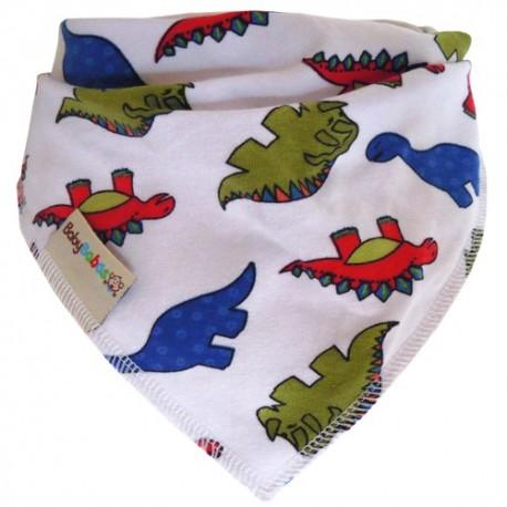 White Dinosaurs - Bandana Dribble Bib - Baby Babas
