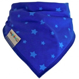 Royal Blue Stars Summer Dribble Bib - Bandana Dribble Bib by Baby Babas
