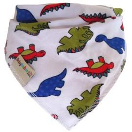 White Dinosaurs Summer Dribble Bib - Baby Babas