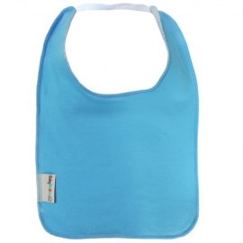 Blue Square Bib with Elastic - Baby Babas