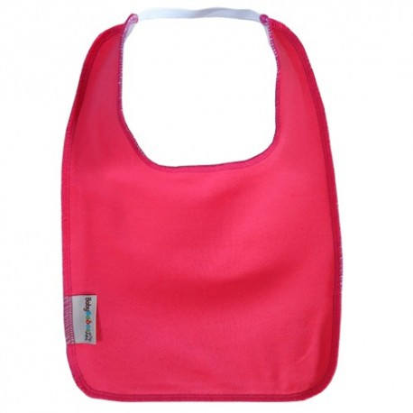 Raspberry Pink Square Bib with Elastic - Baby Babas