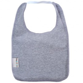Grey Square Bib with Elastic - Baby Babas