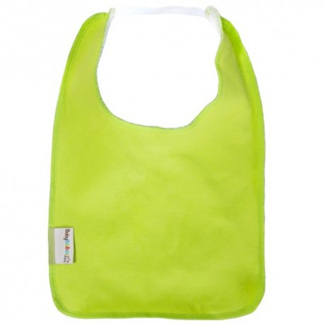 Lime Green Square Bib with Elastic - Baby Babas