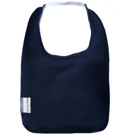 Navy Blue Square Bib with Elastic - Baby Babas