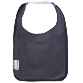 Charcoal Grey Square Bib with Elastic
