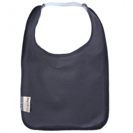 Charcoal Grey Square Bib with Elastic - Baby Babas