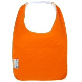 Orange Square Bib with Elastic - Baby Babas