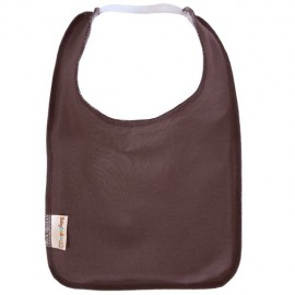 Brown Square Bib with Elastic - Baby Babas