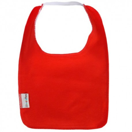 Red Square Bib with Elastic - Baby Babas
