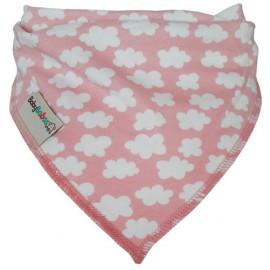 Pink Clouds - Bandana Dribble Bib - Baby Babas