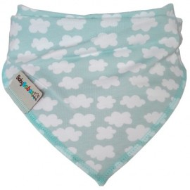Mint Clouds - Bandana Dribble Bib - Baby Babas