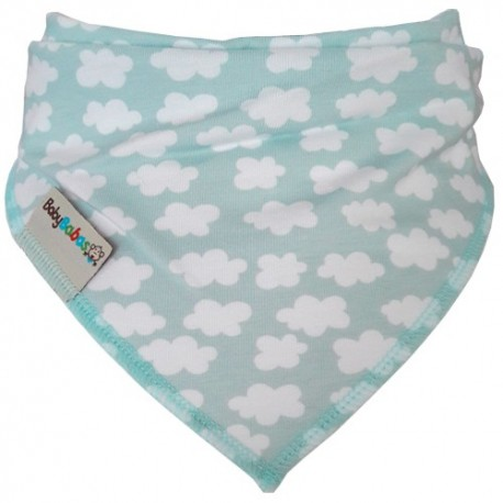 Mint Clouds - Bandana Dribble Bib - Baby Babas