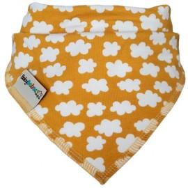 Mustard Clouds - Bandana Dribble Bib - Baby Babas