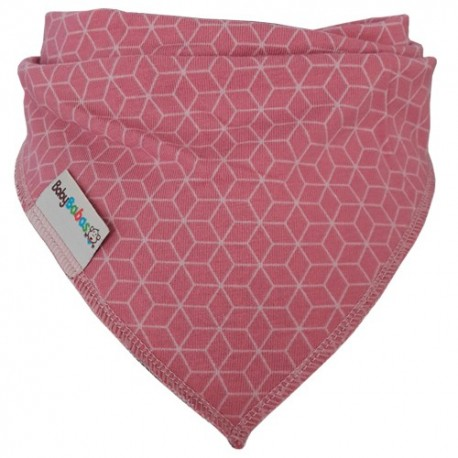 Pink Hexagons - Bandana Dribble Bib - Baby Babas