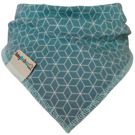 Mint Hexagons - Bandana Dribble Bib - Baby Babas