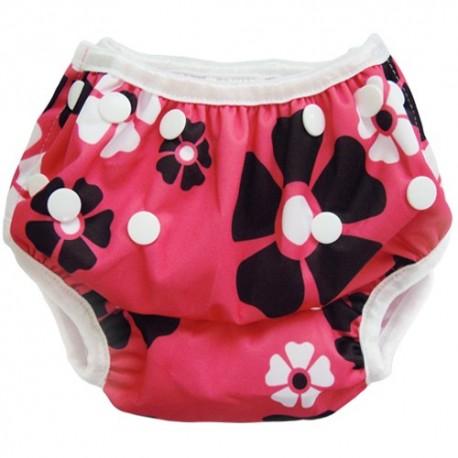 Swim Nappy Pink Flowers
