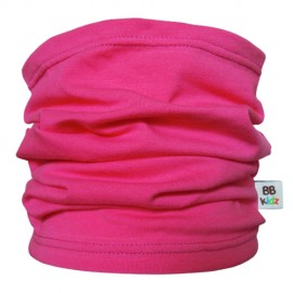 Raspberry Pink Tube Scarf for babies - Baby Babas