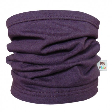 Aubergine Tube Scarf for babies - Baby Babas