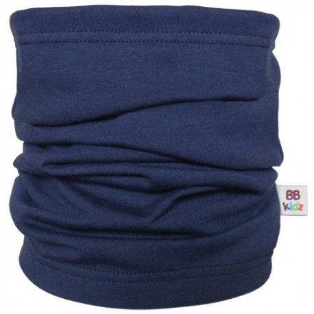 Navy Blue Tube Scarf Kids - Baby Babas