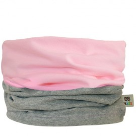 Light Pink & Grey Duo Tube Scarf - Baby 0-2 years by Baby Babas