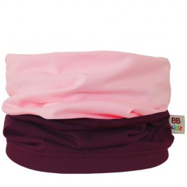 Aubergine & Light Pink Duo Tube Scarf - baby