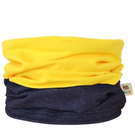 Denim & Yellow Duo Tube Scarf - Baby