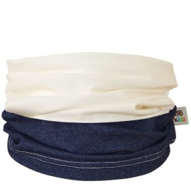 Denim & Cream Duo Tube Scarf - Baby 0-2 years - Baby Babas