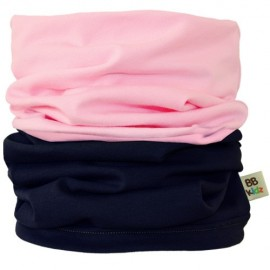 Light Pink & Charcoal Grey Duo Tube Scarf - Kids