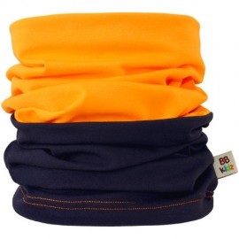 Navy Blue & Orange Duo Tube Scarf - Kids 2-8 years - Baby Babas