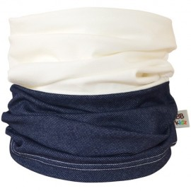 Denim & Cream Duo Tube Scarf - Kids 2-8 years - Baby Babas