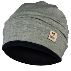 Grey & Navy Blue Hat - Baby