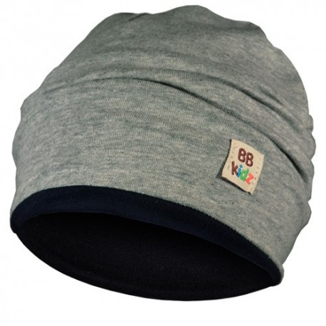 Grey & Navy Blue Hat - Baby 6-24 months - Baby Babas