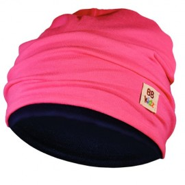 Rasberry Pink & Navy Blue Hat - Baby 6-24 months - Baby Babas