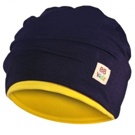 Yellow & Navy Blue Hat - Baby 6-24 months - Baby Babas