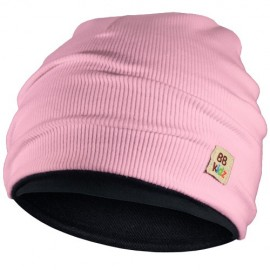 Light Pink & Charcoal Grey Hat - Kids