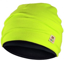 Lime Green & Charcoal Grey Hat - Kids