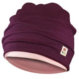 Aubergine & Light Pink Hat - Kids