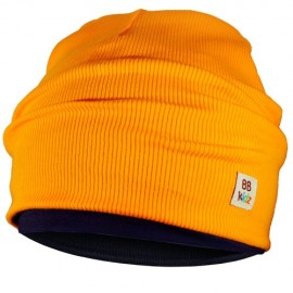Navy Blue & Orange Hat - Kids