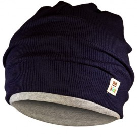 Grey & Navy Blue Hat - Kids