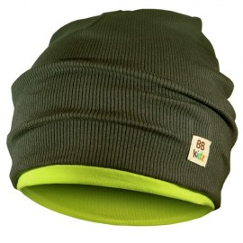 Khaki & Lime Green Hat - Kids