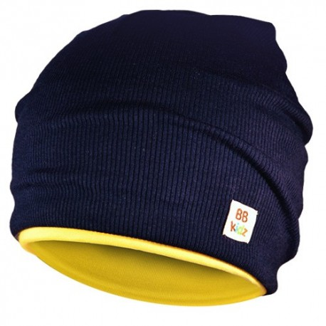 Yellow & Navy Blue Hat - Kids 2-8 years - Baby Babas