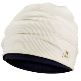 Cream & Navy Blue Hat - Kids